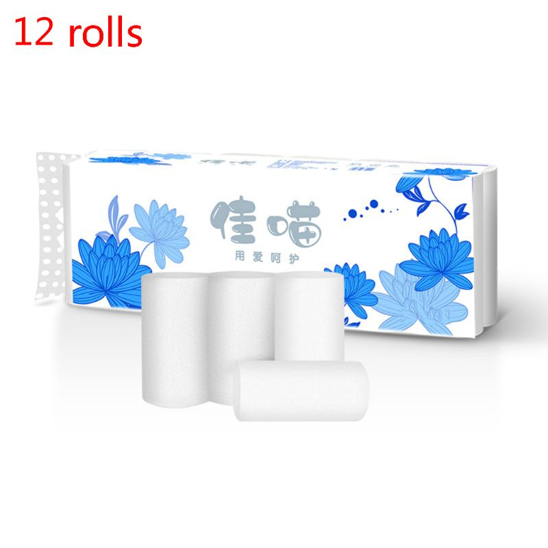 10 Rolls 4-Ply Toilet Paper, Silky & Smooth Soft Premium Home Kitchen Toilet Ti 667D