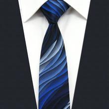 """UZ23 синий пульсация мужские узкий галстук Тонкий Галстуки 6 см 2,35"""""""
