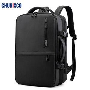 Мужской рюкзак CHUNIXCO, Вместительная дорожная сумка для ноутбука 17 дюймов с usb-зарядкой, мужская сумка с защитой от кражи