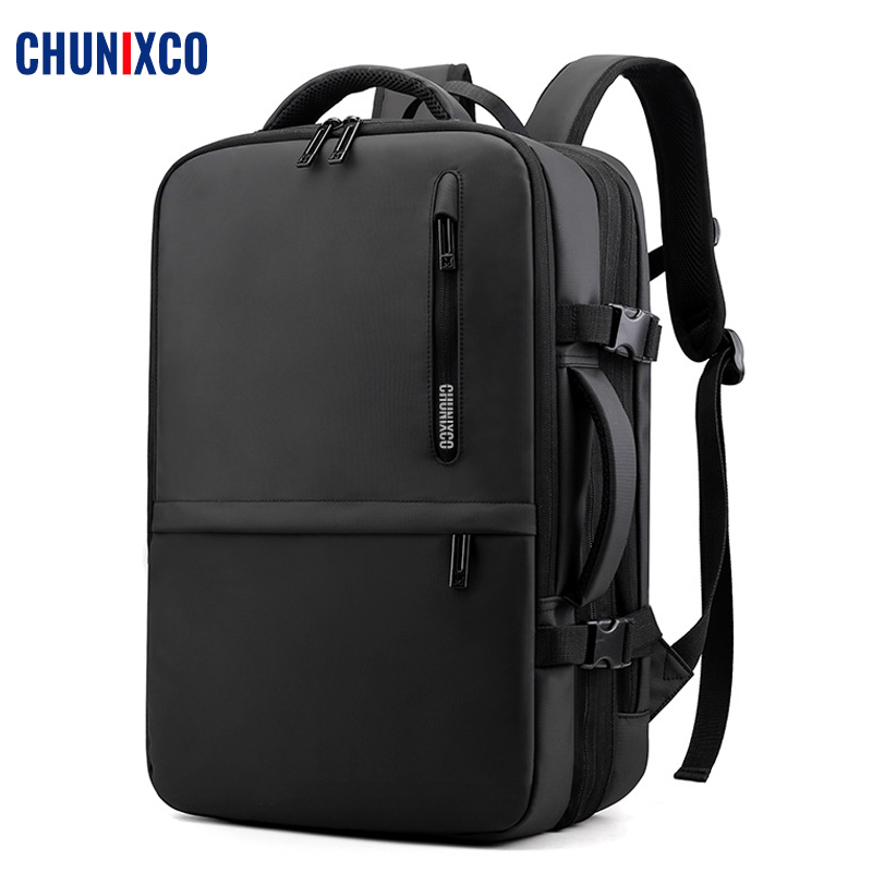 CHUNIXCO Men Backpack Fit 17inch Laptop Expandable Travel Bag USB Charging Bagpack Large Capacity Male Bag Anti-theft Mochila