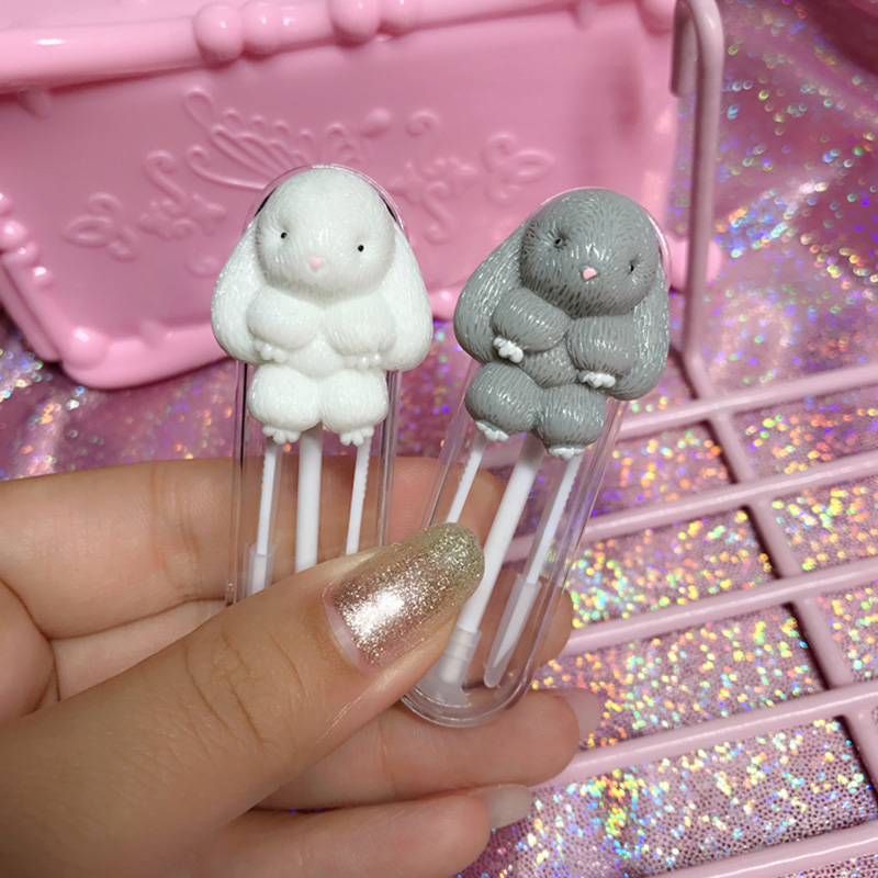 Lovely Cartoon Rabbit Contact Lenses Tweezers And Suction Stick For Special Clamps Tool Eye Contact Lens Inserter Remover