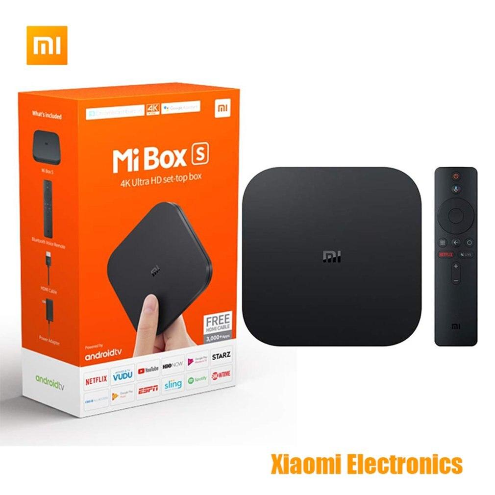 Xiao mi Box S 4K Ultra HD Android TV avec Google Assistant vocal Direct à distance Strea mi ng lecteur multimédia décodeur