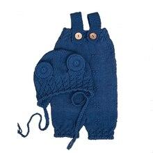 Newborn Baby Boys Girls Cute Crochet Knit Costume Prop Outfits Photo Photography XX9F