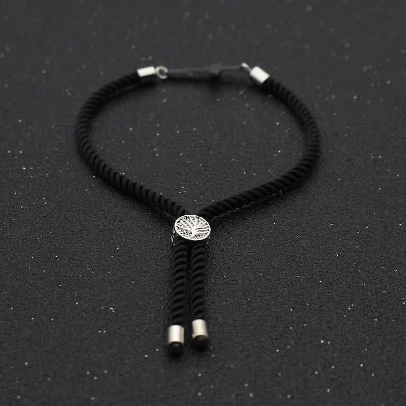 Cute Bear Stainless Steel Cross Couples Bracelet & Bangles Simple Adjustable Rope Bracelets For Women Men Friendship Jewelry