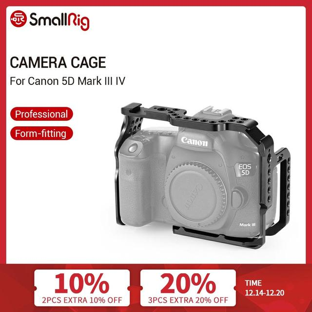 SmallRig Protective Cage for Canon 5D Mark III IV Camera With Bulit in NATO Rails Arca Swiss Plate   2271