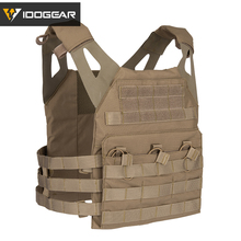 IDOGEAR JPC Tactical Vest Airsoft Body Armor Jumper Plate Carrier MOLLE Paintball Military 500D Nylon Durable