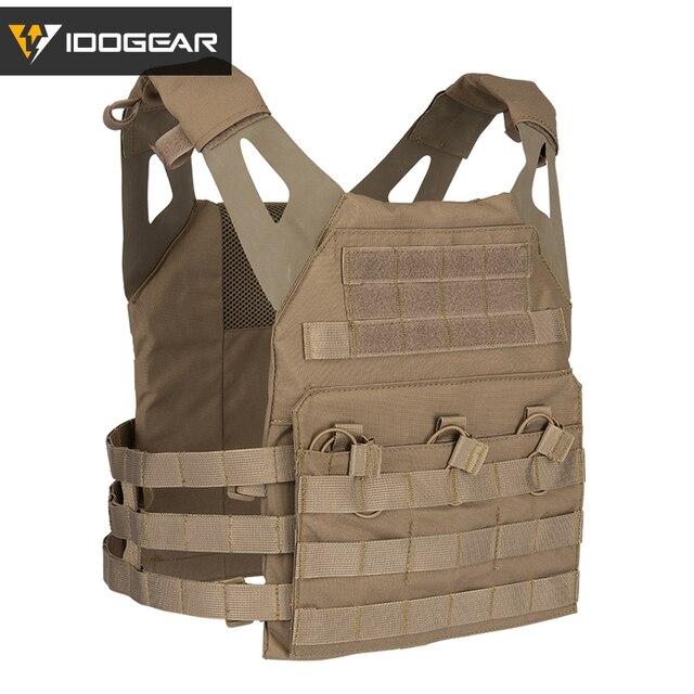 IDOGEAR JPC التكتيكية سترة الادسنس درع للجسم البلوز لوحة الناقل الملونة الألوان العسكرية 500D النايلون دائم