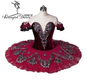 Image 1 - girls mulberry swan lake ballet costumes red ballet tutu adult professional ballet tutu ballet costumes performanceBT8992