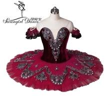 女の子の桑白鳥の湖バレエ衣装赤バレエチュチュ成人プロフェッショナルバレエチュチュバレエ衣装 performanceBT8992