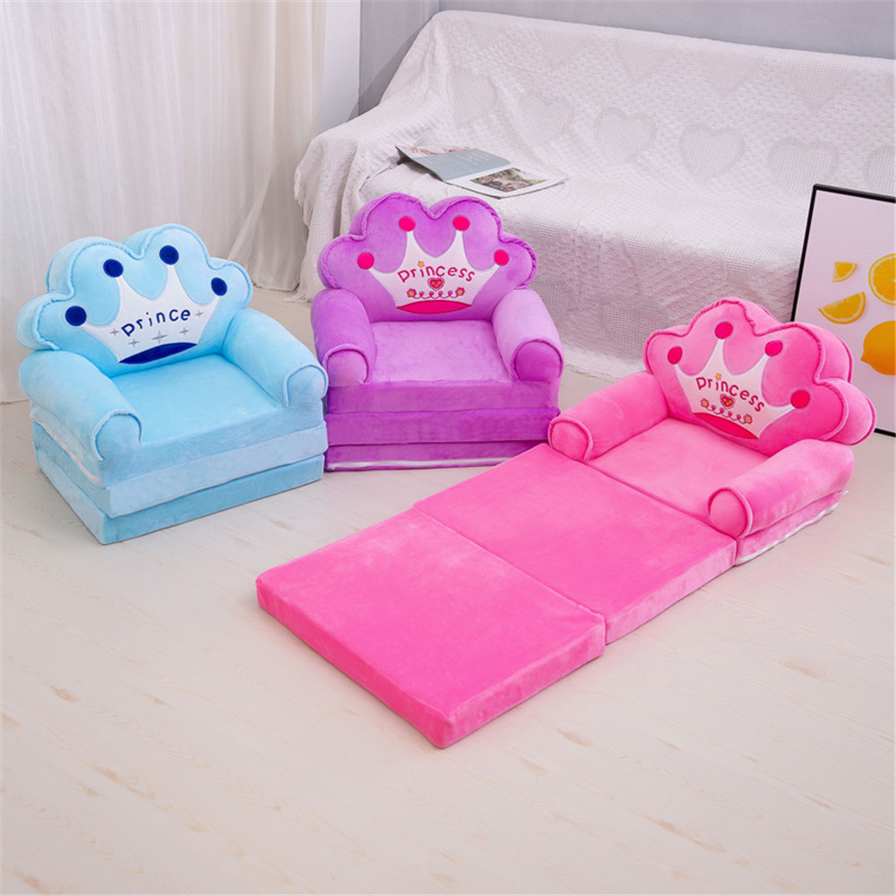 Baby Seats & Sofa Kids Furniture Only Cover NO Filling Cartoon Foldable Seat Children Chair Toddler Sofa Folding Multi-layer