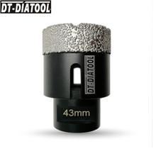 цена на DT-DIATOOL 1pc M14 Dia 43mm Dry Vacuum Brazed Diamond Drilling Core Bit Ceramic Tile Hole Saw Granite Marble Stone Drill Bit