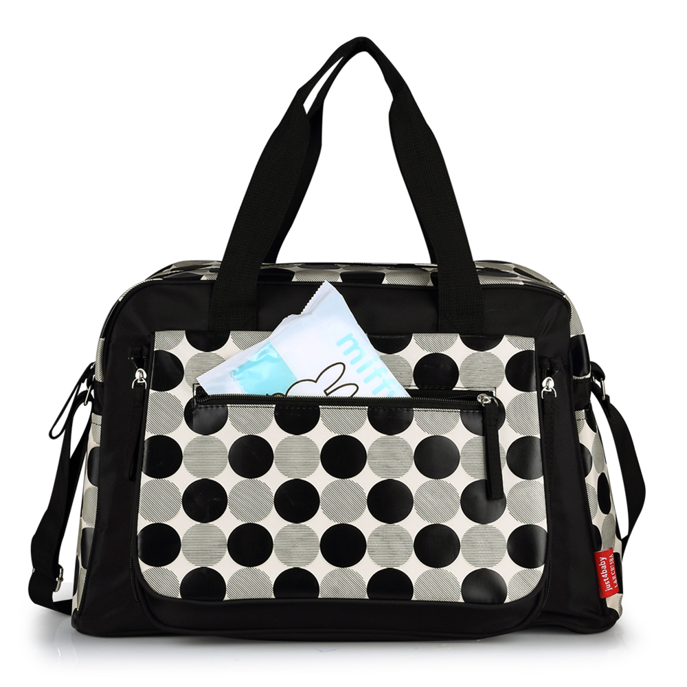 Diaper Bags Black Dot Pattern Mommy Handbag Waterproof Large Capacity Maternity Nursing Bag Baby Care Nappy Bags Stroller Bags