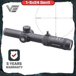 Vecteur optique GenII Forester 1-5x24 lunette de visée point central éclairé Air doux portée chasse fusil portée Air pistolet AR15 portée