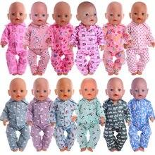 Boneca dsiney dos desenhos animados roupas pijamas de noite para 18 Polegada americano & 43cm renascer bebê recém nascido boneca, menina rússia presentes diy brinquedos