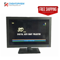 Ophthalmic optical VC 3D 3D polarization 19 inch LED visual acuity chart monitor vision tester panel chart monitor