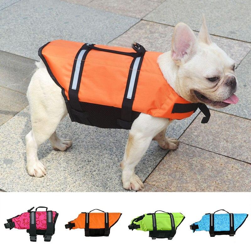 Спасательный жилет для домашних питомцев, спасательный жилет с регулируемой пряжкой, одежда для щенков, спасательный жилет для плавания на ...