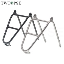 Q-Racks Bicycle Luggage Brompton Shelf-Frame Bike C-V-Brake Titanium TWTOPSE for Folding