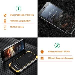 Image 3 - Doogee teléfono inteligente S40 lite, teléfono móvil resistente con Android 9,0 os, pantalla de 5,5 pulgadas, batería de 4650mAh, procesador MT6580, Quad Core, 2GB RAM, 16GB ROM, cámara de 8.0MP, IP68/IP69K