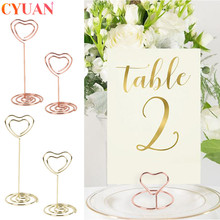 Card-Clips Wedding-Favors Table-Decorations Hold-Stand 5pcs Desk-Notes Memo-Number Message