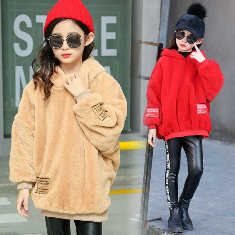 Kids Hoodies Letter Print Children Fleece Sweatshirts Fashion Clothes Teens Cotton Big Girls Thick Warm Clothes Winter Outerwear Buy At The Price Of 19 79 In Aliexpress Com Imall Com
