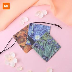 Image 2 - Xiaomi נקי n טרי ואן גוך ציור ארומתרפיה ניחוח טבליות מלתחת מכונית מטהר אוויר קישוט מוצק ריחני חתיכה