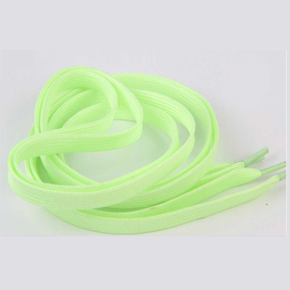 Deporte luminosa elástico cordones resplandor en el Color oscuro de encaje de cordón informal para zapatos de la alta calidad elástico cordones zapato Unisex cordones