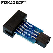 10pin para 6pin converter para padrão 10 pinos para 6 pinos adaptador placa para atmel stk500 avrisp usbasp isp conversor de interface avr