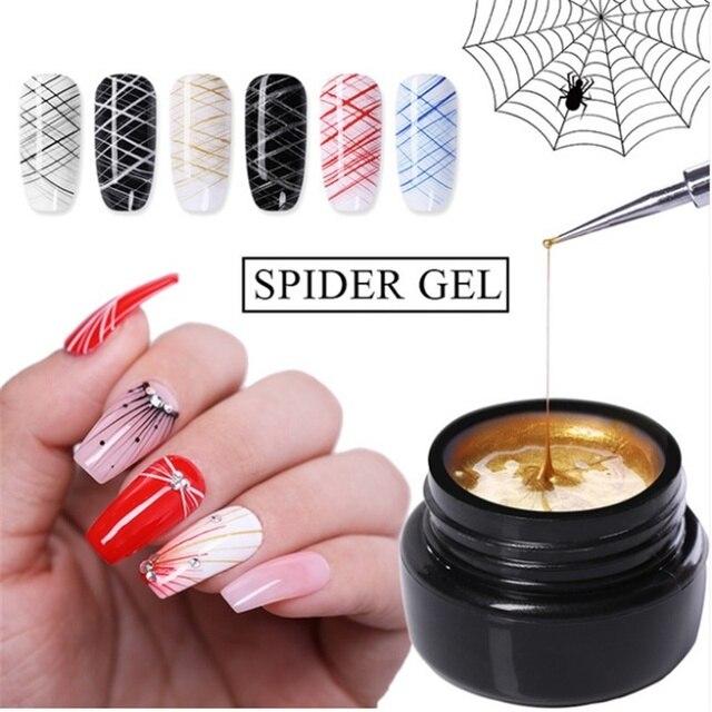 1 Pcs Spider Gel Nail Polish LED UV Gel Cheap For Nail Soak Off Nails Gel Lacquer Glitter 8ML Nude Red Hybrid Nail Polish Gel 3
