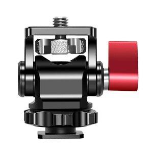 Image 2 - Hot Shoe Mount Mini Balhoofd 360 Panoramisch Monitor Houder Camera Pan Tilt 1/4 Koud Schoen Adapter Voor Statief Licht flash Bracket