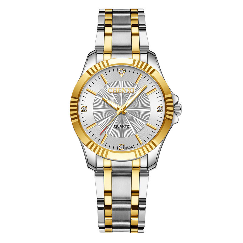 Fashion Lovers Watch Men Women Stainless Steel Rhinestone Waterproof Quartz Wristwatches Couple Watches Clock Relogio Masculino