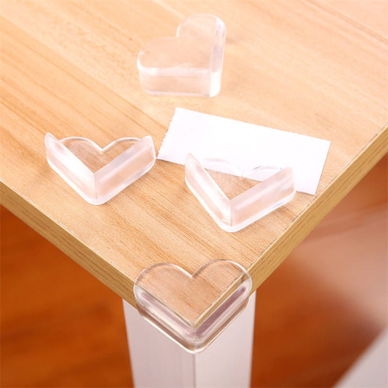 4pcs/lot Baby Safety Table Corner Protector Transparent Anti-Collision Angle Protection Cover Edge Corner Guard Child Security