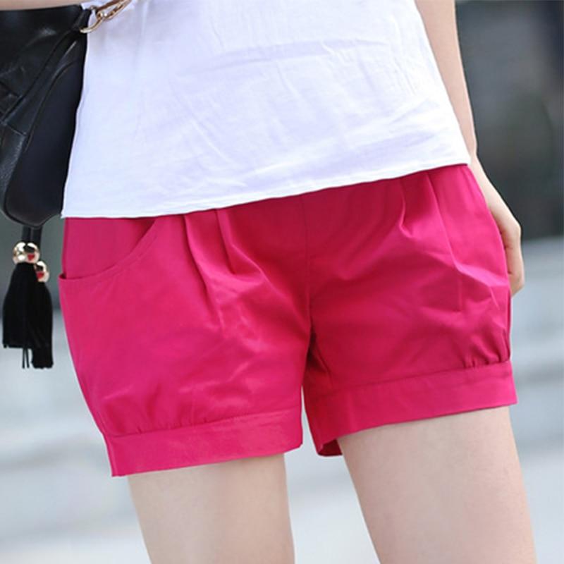 Big Size 5XL New Summer Fashion Elastic High Waist Shorts Women Casual Cotton Shorts Solid Harem Shorts Female Pockets Steetwear