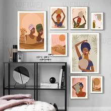 Украшение для дома Африканской женщины картина иллюстрация стиль