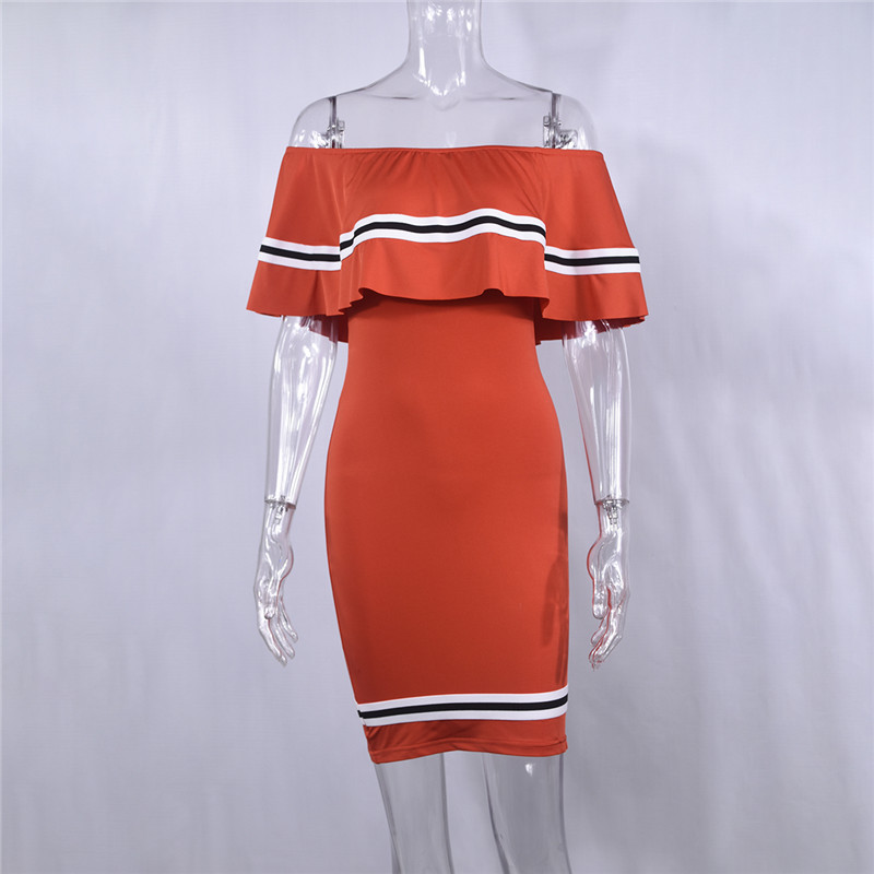 H6a67489878e64f55a78b6b15abd4b478F - Off Shoulder Slash Neck Sexy Autumn Party Dress Striped Ruffles Short Sleeve Summer Dress Women Plus Size Casual Beach Vestidos