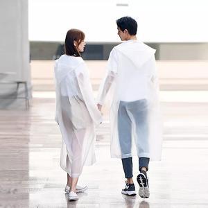 Image 5 - Xiaomi Raincoat and Waterproof Hooded EVA Rain Jacket Poncho Outside Hiking Rainwear Uniform code Women Men Waterproof Rainwear
