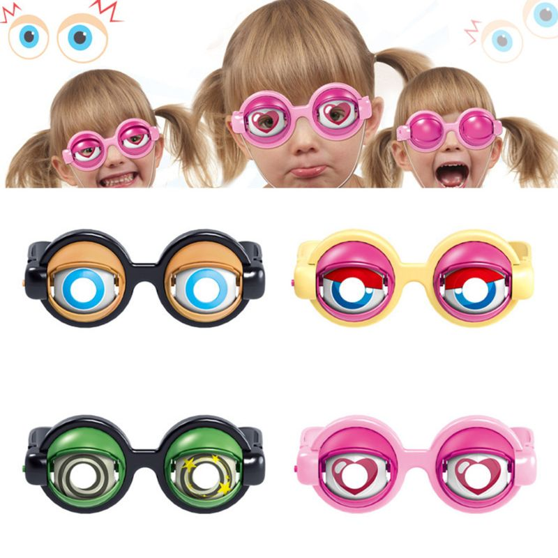 2019 Crazy Eyes Funny Children Toys Creative Funny Boy Girl Game Play Toy Plastic Glasses