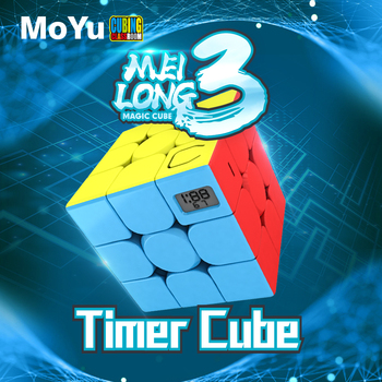 MoYu Classroom meilong 3 Timer Cube Magic stickerless puzzle cubes professional speed  educational toys for students new moyu cubing classroom meilong pyramid cube 3x3x3 stickerless magic speed cubes professional puzzle cubes education toys