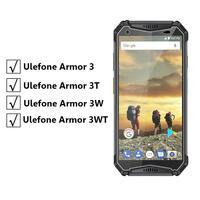 Protector de pantalla de vidrio templado Ulefone Armor 3 3T, Protector de pantalla de vidrio a prueba de explosiones para Ulefone Armor 3W 3WT, película de teléfono
