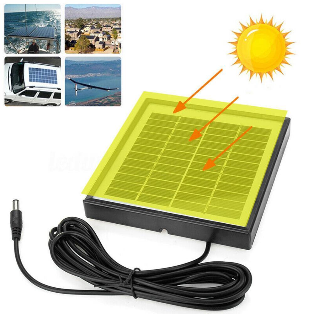 ao ar livre 3 metros cabo 5w 12v polisilicon painel solar carregador para camera de luz
