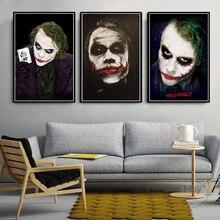 Pósteres de pintura en lienzo Joker de película Batman Heath Ledger e impresiones en el Vintage de pared arte decorativo decoración del hogar Obrazy