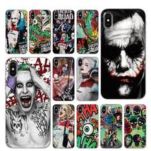 Harley Quinn Suicide Squad Joker Marvel DC Comic Silicone Phone Cases for iPhone 5 5S SE 6 6s 7 8 Plus X XS Max XR Back Cover(China)