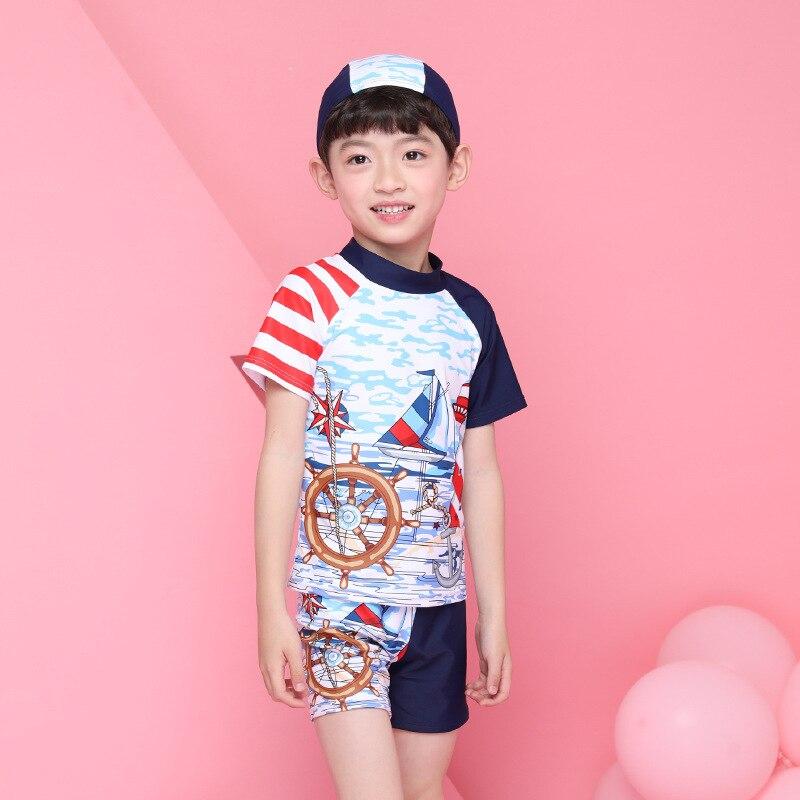 2018 Xiqi New Style KID'S Swimwear Cartoon Boy Split Swimsuit 847