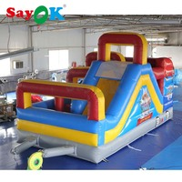 6x3x3.5mH Funny Inflatable Game Inflatable Obstacle Trampoline Slide with Air Blower for Playground/Party/Business