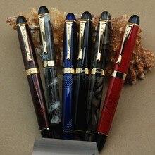 Jinhao 450 iraurita caneta tinteiro ouro 18 kgp 0.5mm médio nib cheio de metal multicolorido jinhao x450 papelaria profissional