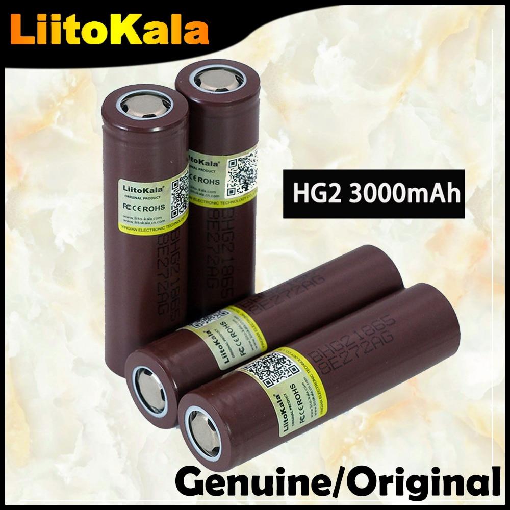Batería recargable de 18650 mAh HG2 3000, Original, nueva, 100%, 18650HG2, 3,6 V, descarga 20A, para hg2