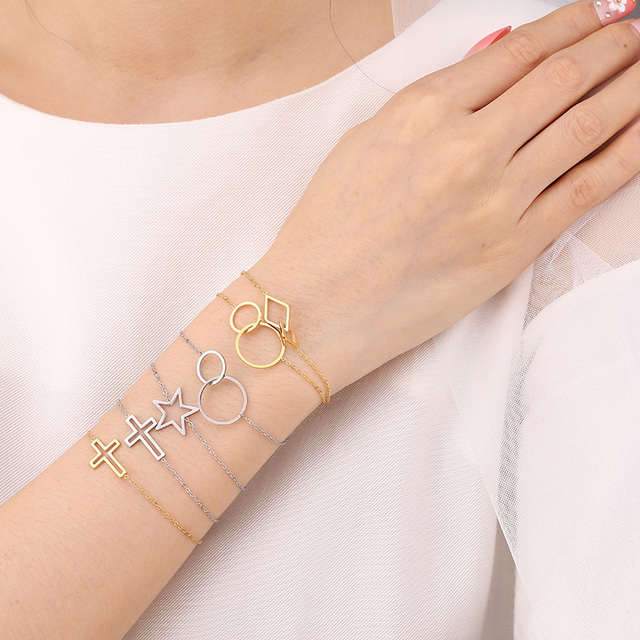 Купить женский браслет из нержавеющей стали she weier золотистый с