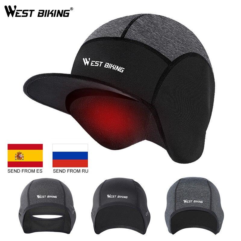 Cycle Hat Sports Hat Cap Head Warmer Skull Cap Cycling Helmet Outdoor Windproof