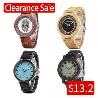Promotion vente BOBOBIRD montre en bois hommes femmes montres à Quartz cadeau de noël meilleur cadeau en boîte montre homme