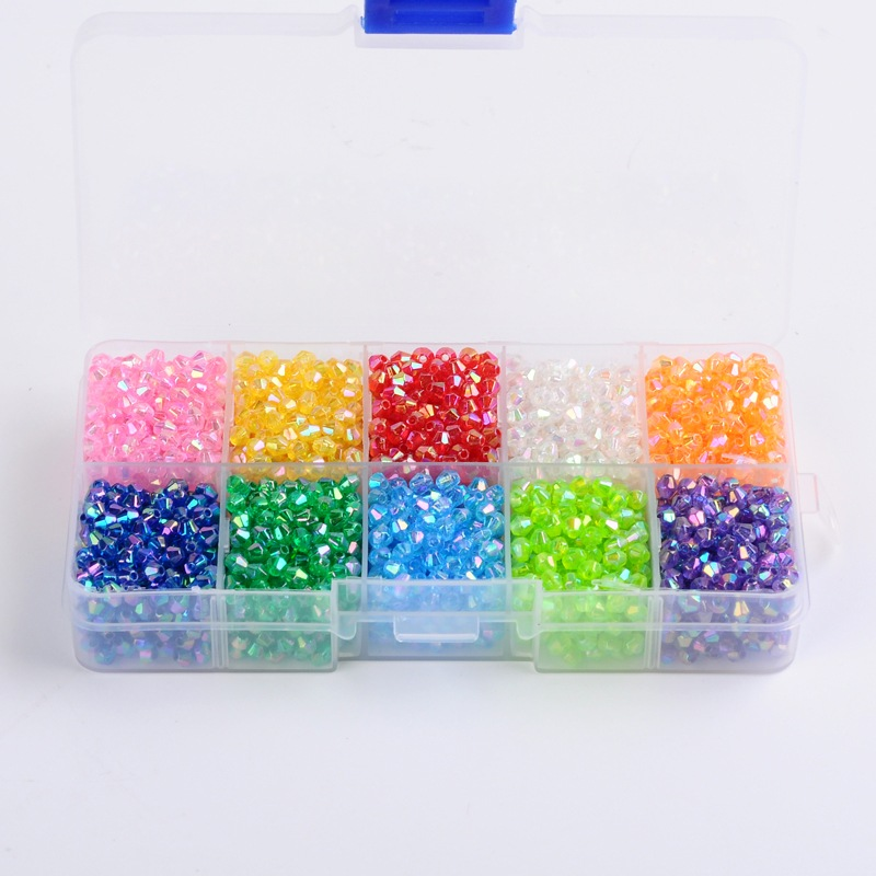 Mixed Color NBEADS 10 Strands of 3.5mm Electroplate Faceted Bicone Glass Beads Rainbow Plated for Jewellery Making Hole: 1mm; about 150 Pcs//strand 18