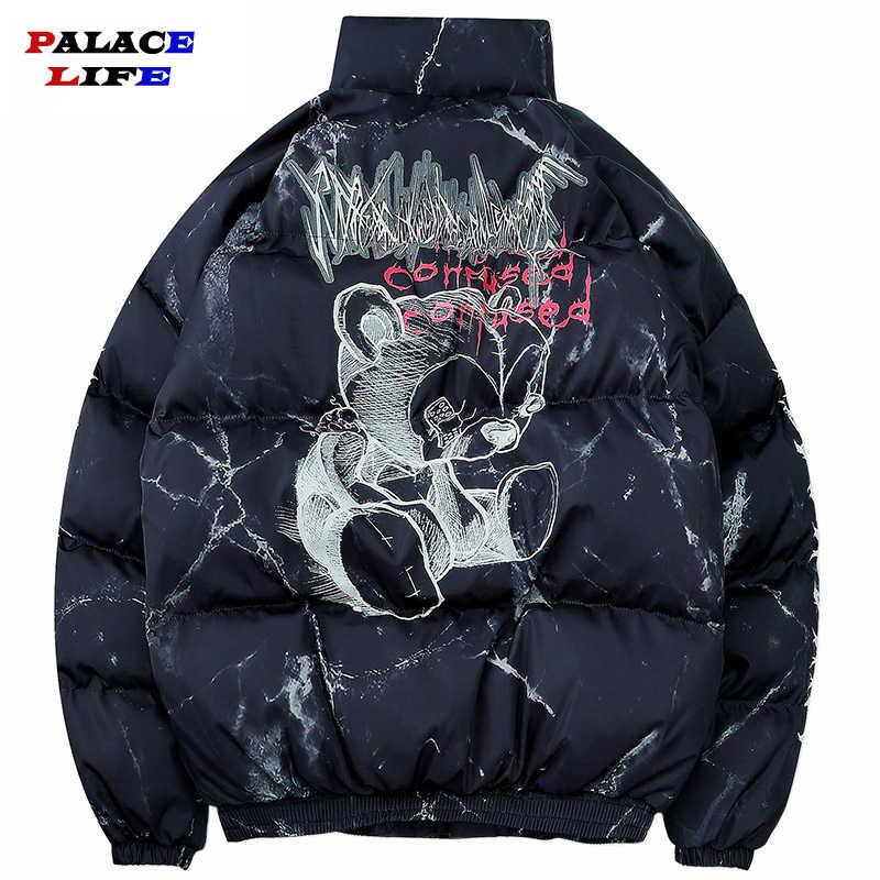 겨울 뉴 남성 솔리드 컬러 파커 품질 브랜드 일본 남성 후드 따뜻한 두꺼운 재킷 남성 패션 캐주얼 파카 코트